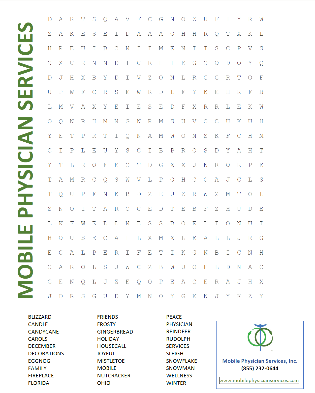 Dec word search