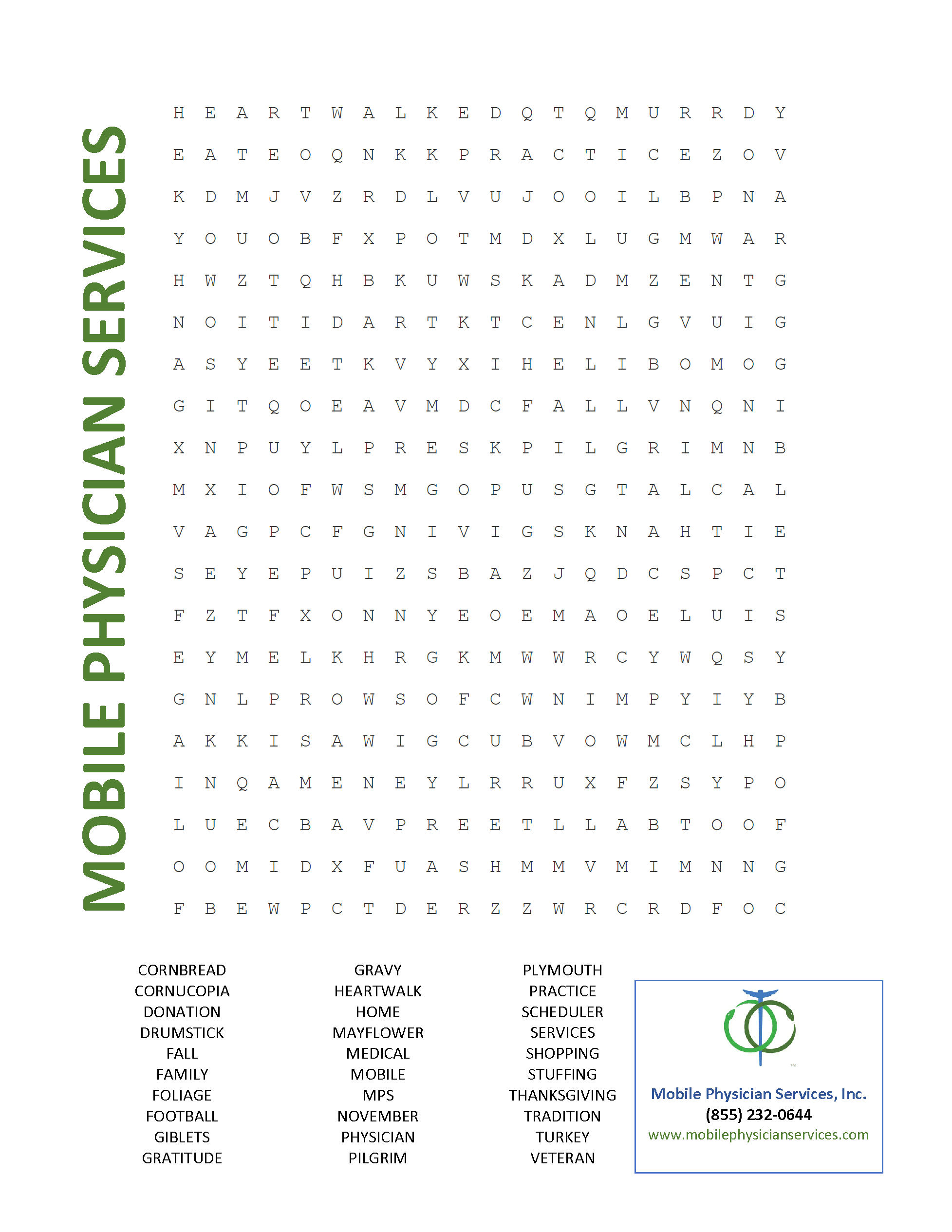 Nov Word Search